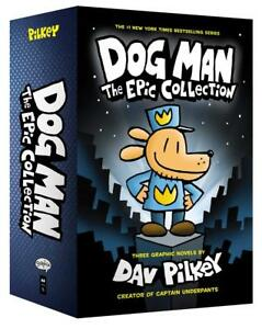 Dog-Man-1-3-The-Epic-Collection-3-Books-Set-By-Dav-Pilkey-Hardcover-NEW-Pack
