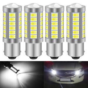 4-x-Ampoule-33-LED-BA15S-1156-P21W-XENON-VOITURE-Feux-Recul-Jour-SMD-Blanc