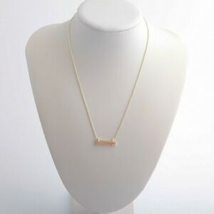 New-Kendra-Scott-Leanor-Gold-Pendant-Necklace-In-Sand-Drusy