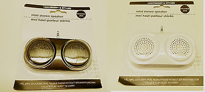 100% True New Mini Speakers For Ipod Pc Plug & Play / White Or Black Phone You Select