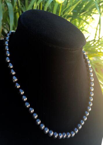8 mm Elite Shungite Necklace Noble Shungite Bead Necklace Chain Karelia Reiki.