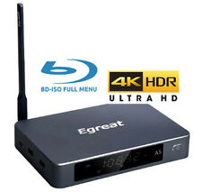 Egreat A5 Ultra-HD 4K HDR UHD+BD+DVD ISO FULL MENU Android Media Box