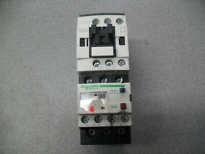 Schneider Motor Starter Assemble 9A Coil 110V Overload Relay 5.5-8Amp.