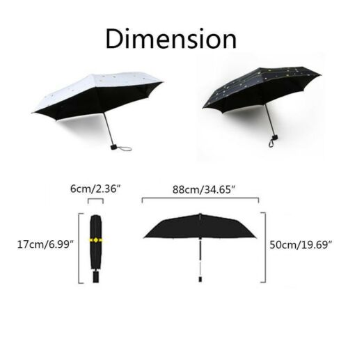 Pocket Travel Compact Umbrella Lightweight UV Protection Manual Tinyumbrella