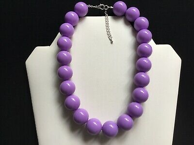 Purple Beaded Choker Necklace