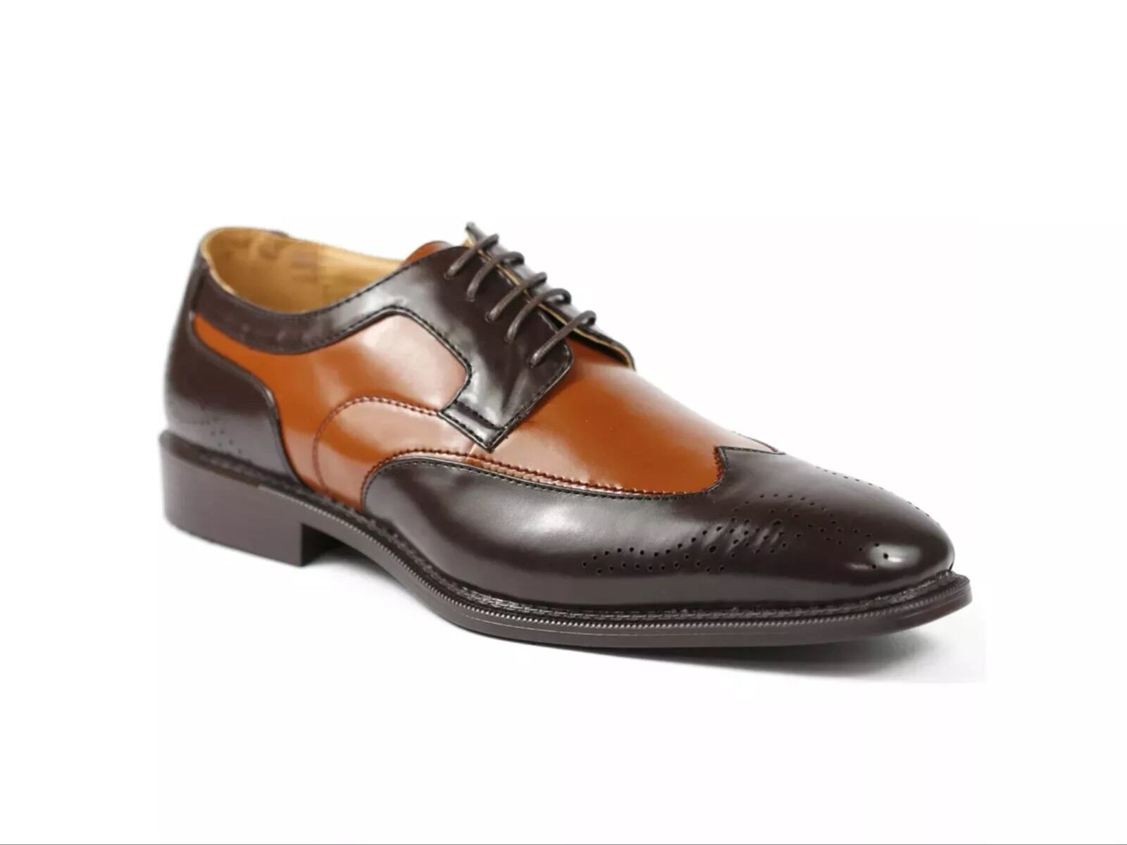 Men's Dress shoes Bolano,wingtip,Oxford smooth,Brown Cognac new with Box