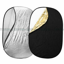 100 X150cm 5-in-1 Oval Studio Light Multi Collapsible Photo Reflector Board Disc