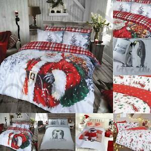 New Christmas Bedding Set Single Double King Size Duvet Quilt Cover Reversible