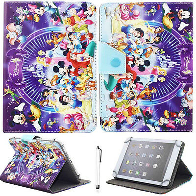 """Newly Universal For 7"""" 8"""" 10"""" 10.1"""" Tablet PC Leather Stand Case Cover +Stylus"""