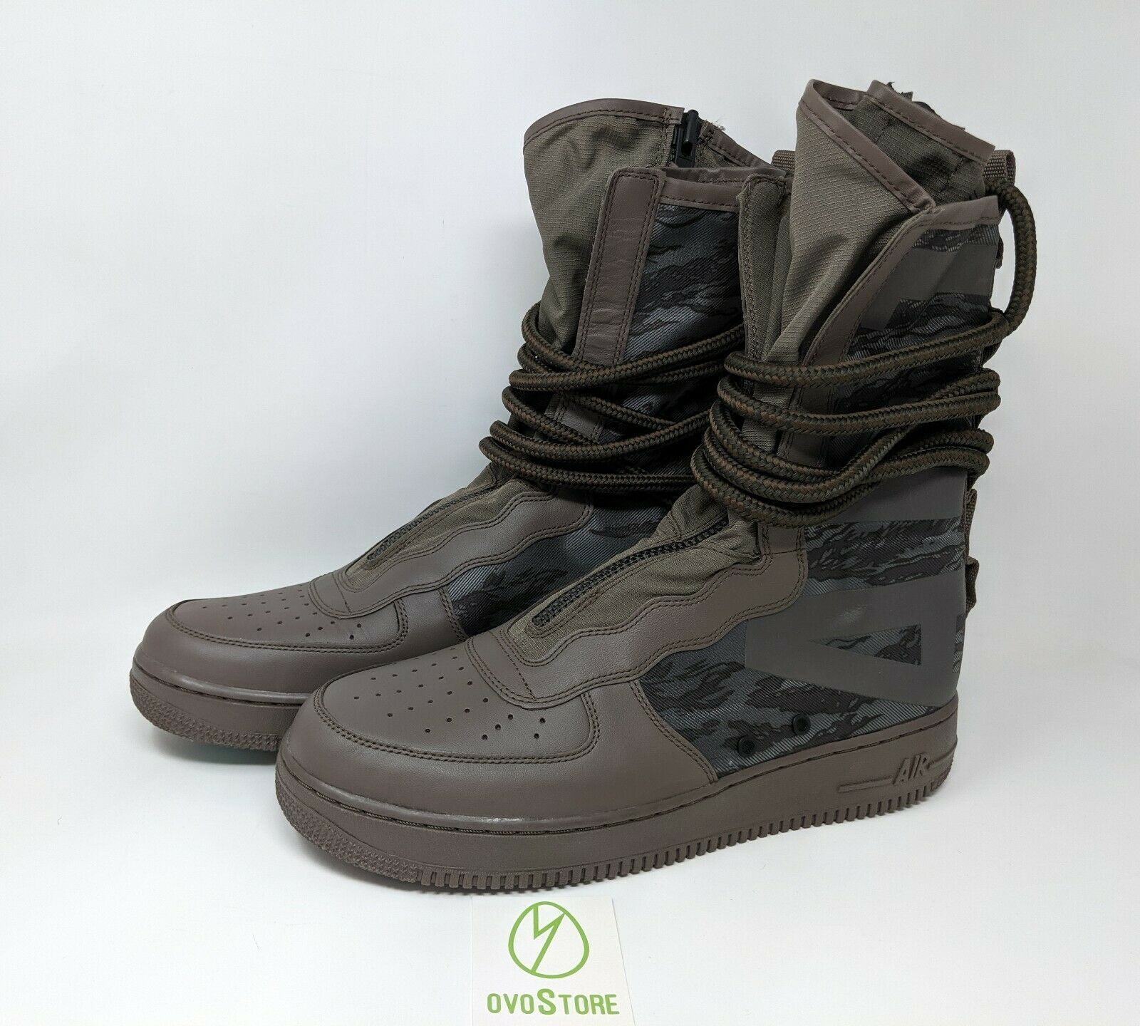 Nike SF Air Force 1 High BOOTS Ridgerock Black Sequoia Size 12 AA1128-203