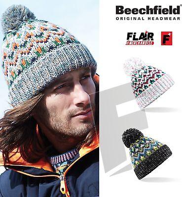 Beechfield Blizzard Bobble Beanie-caldo Inverno Lanoso Cappello Pom Pom-mostra Il Titolo Originale