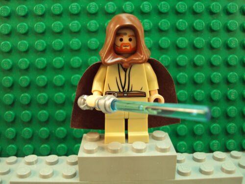 Lego Minifig Star Wars ~ Obi-Wan Kenobi ~ w//headset From Set 7661 Flesh Head
