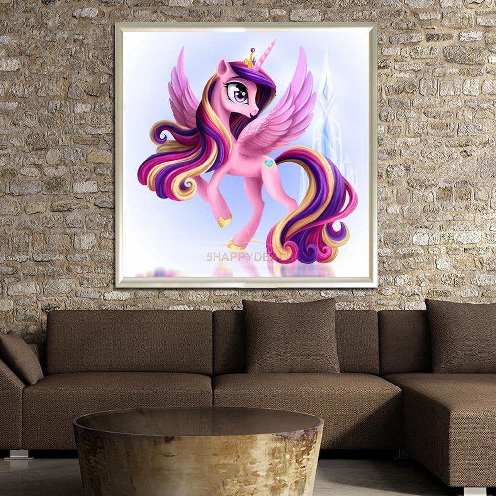 cute pony unicorn 5d diamond diy embroidery painting cross stitch