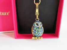 Authentic Juicy Couture Blue Pave Wisdom Owl Charm, YJRUSC47, NIB