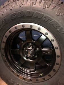 Fuel Trophy Wheels >> Details About 5 17 Fuel Trophy D551 Black Wheels Jeep Wrangler Jk 35 Toyo At Tires Package