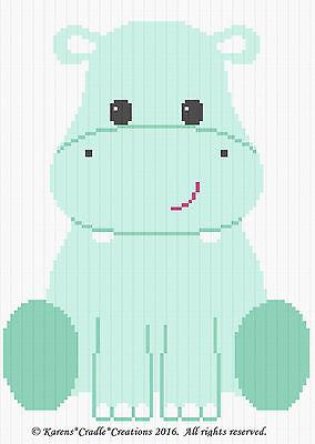 Crochet Patterns - HIPPO THE HIPPOPOTAMUS Crochet Graph Pattern/Chart  *EASY*