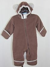 COLUMBIA Brown Bear Fleece Winter Snow Bunting 1 One Piece Warm Suit Baby 6 mon
