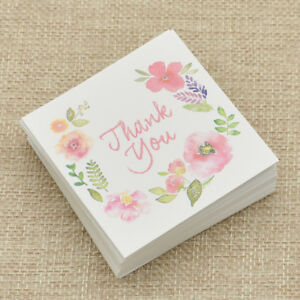 THANK-YOU-Flower-Paper-Card-Message-Rewards-Invitation-Card-Wedding-Party-50-Pcs