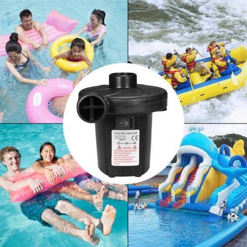 Fast Inflator Electric Air Pump For Paddling Pool Deflator Air Bed Mattress B2T9