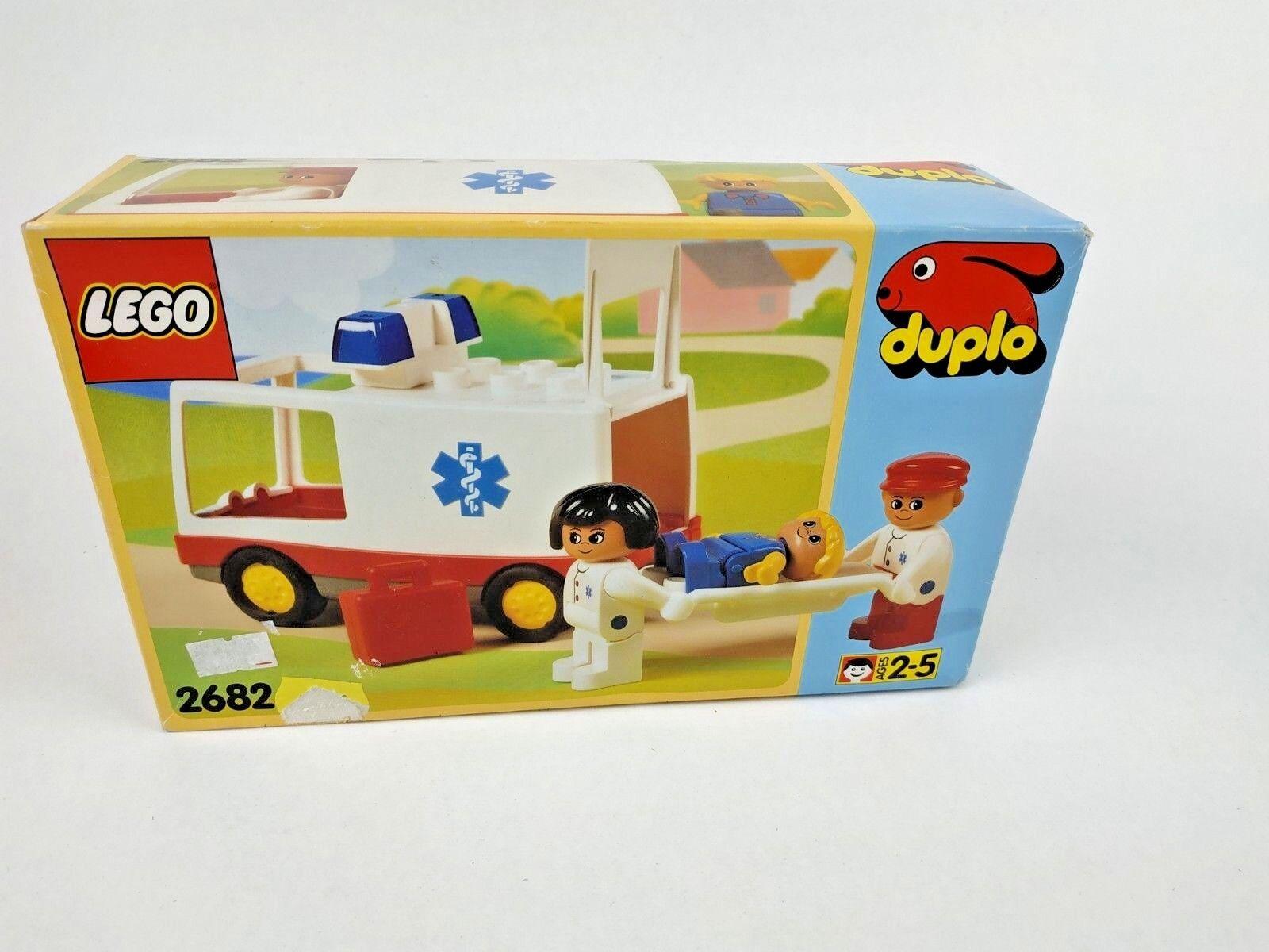 RARE VINTAGE 1994 LEGO DUPLO 2682 AMBULANCE SET nuovo  SEALED  la migliore moda