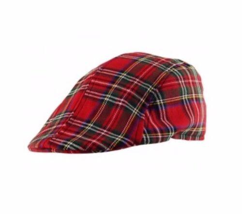 NEW KIDS BOYS TWEED TRADITIONAL WOOL BLEND FLAT CAP CHECK PRINT BEST XMAS GIFT