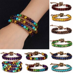8mm-Handmade-Women-3-Layers-Natural-Stone-Beads-Bracelets-Bangles-Leather-Cord