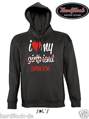 Sweatshirt HERZSCHLAG E 46 Tuning 3er m3 Treffen Pulli SATIRE i love bmw 3 kult
