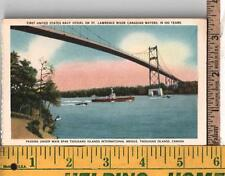 VINTAGE UNUSED POST CARD FIRST US NAVY SHIP ON CANADIAN WATERS IN 100 YEARS