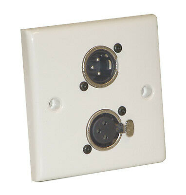 NC3MDL1 AV Wall Plate With 1 x 3 Pin Male and 1 Female XLR Socket