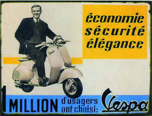 Plaque-metal-Vespa-1-Million-Petit-Modele