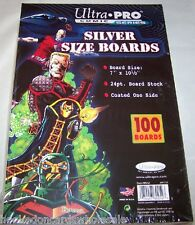 "1 Case of 1000 Ultra Pro 7"" Silver Comic Book Backer Backing Boards"