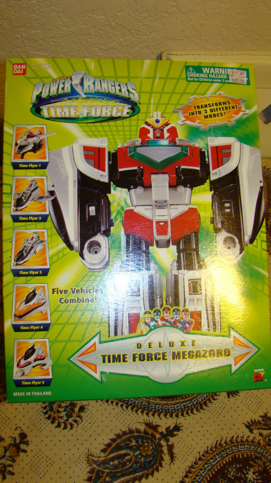 Power Rangers Time Force Deluxe Time Force Megazord  in Original Box RARE