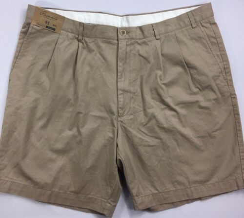 Men/'s Big Man Roundtree /& Yorke Casuals Relaxed Fit Pleated Shorts