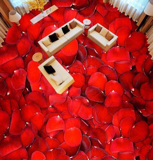 3D petalo rosso rosso rosso bello Pavimento Foto Wallpaper Murales Muro Stampa Decalcomania 667f88