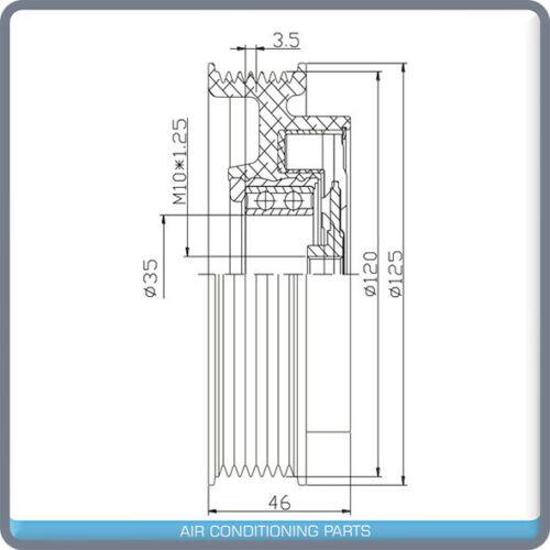 NEW A//C COMPRESSOR CLUTCH Fits MERCEDES-BENZ C240 CLK320 C320 2001-05 QN