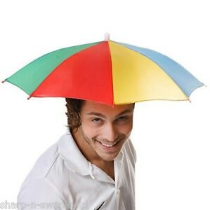 Details about Ladies Mens Adult Multi Colour Festival Essential Umbrella Rain  Hat Fancy Dress 265df893b61