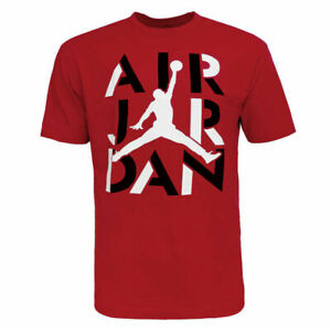 Nike Air Jordan Men's Cotton Active Short Sleeve T Shirt Jumpman Graphic Logo