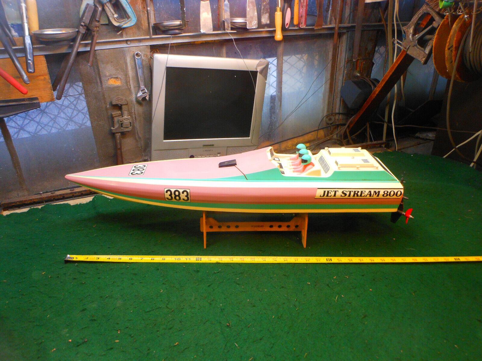 VINTAGE KYOSHO  JETSTREAM 800 RC BOAT guardas completare. for parts or repair  economico e alla moda