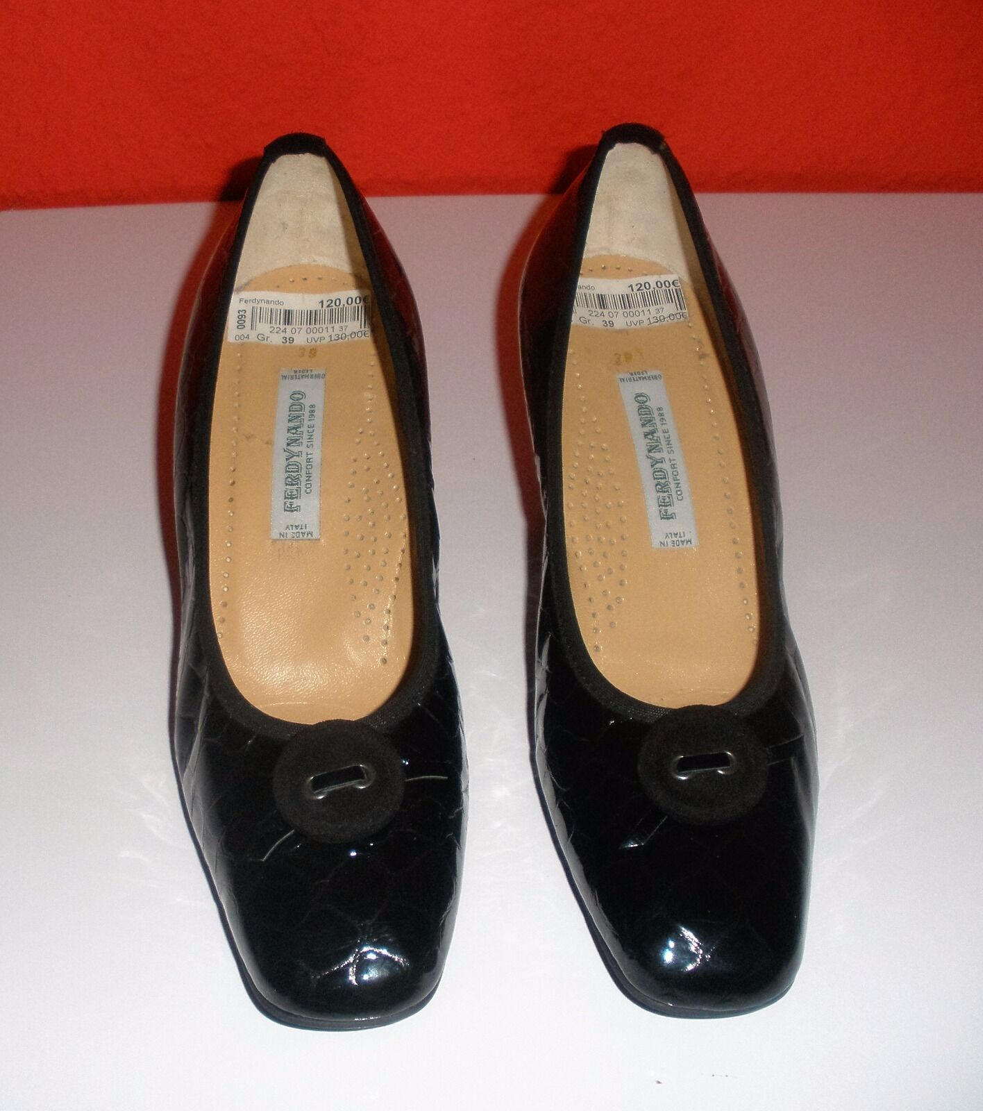 Damenschuhe von Ferdynando 39 Größe 39 schwarz neu 39 Ferdynando Leder Keilabsatz aa19f6