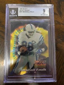 1994 Select #SR1 Marshall Faulk ROOKIE RC Indianapolis Colts Football BGS 9