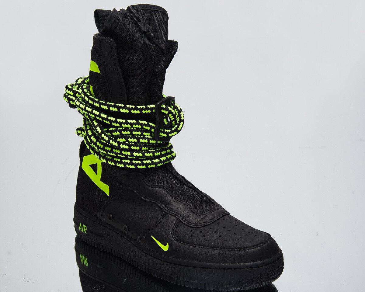 Nike SF Air Force 1 Hi Men's Lifestyle shoes Black Volt 2018 Sneakers AA1128-003