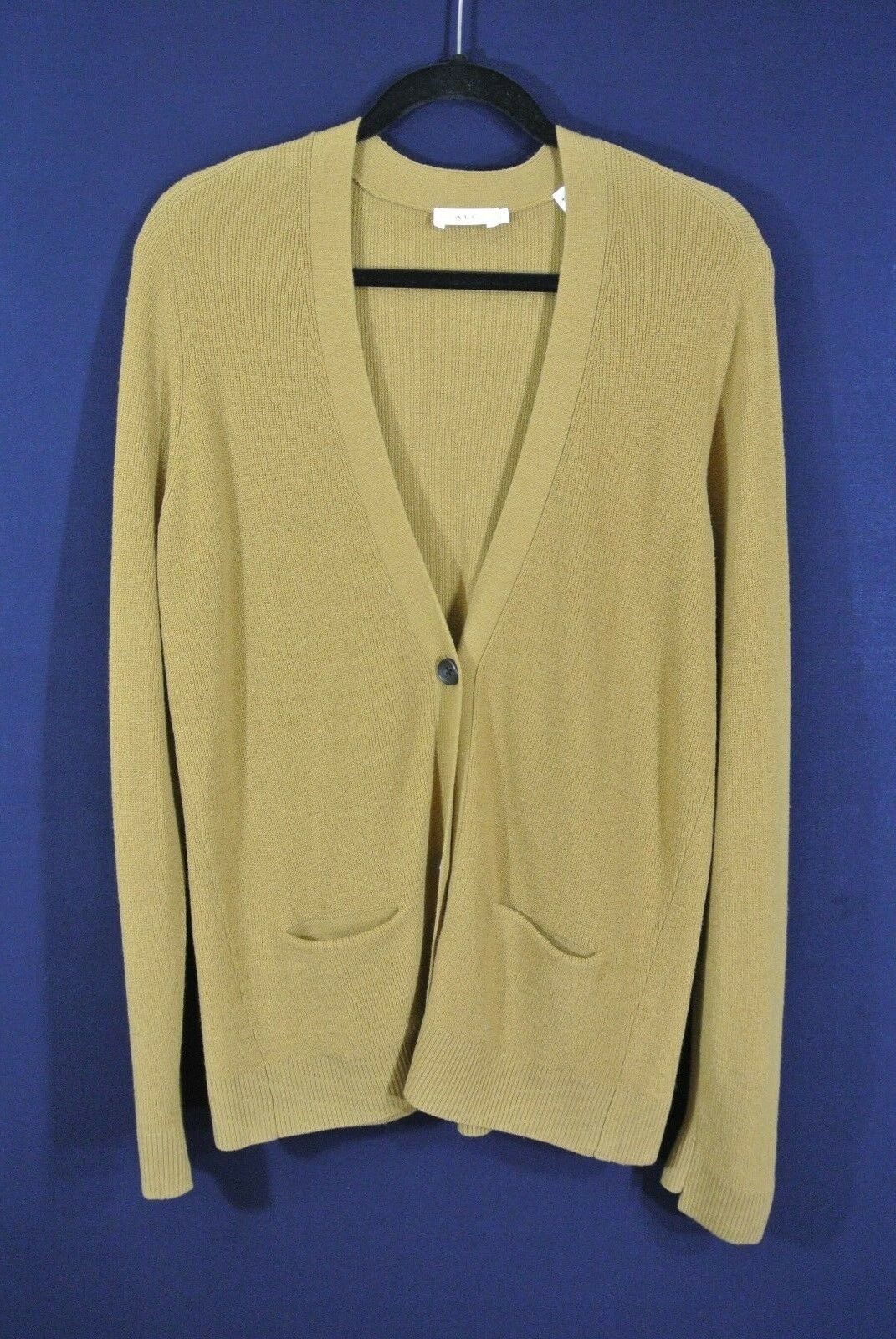 NEW A.L.C.Phillip Merino Merino Merino Wool Blend Cardigan in Toffee - Size L  396 ade3f2