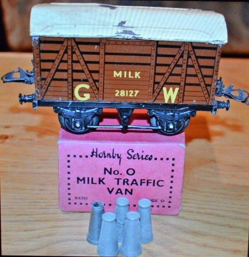 Vintage Hornby Series Milk Traffic Van; O Gauge; RS701 With Milk Churns