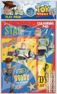 DISNEY TOY STORY 4 Play Pack Pastiglie Da Colorare Matite Set di attività per bambini