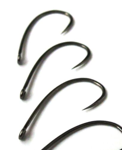 2312BL all purpose Nymph /& Dry /& Chironomid fly tying hooks #16 #14 #12 #10 #8