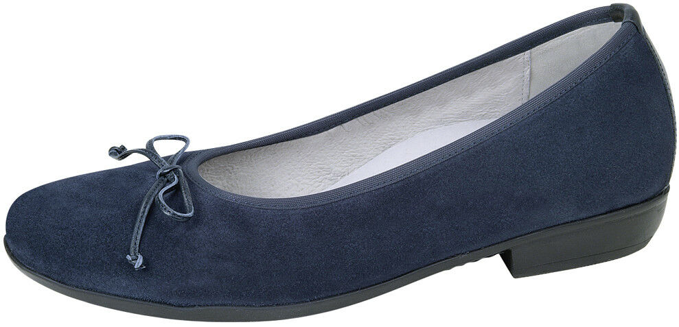 Ladies Casual Ballerina Slip On Waldlaufer Shoe Waldlaufer On 472003 Ocean UK Size 4.5 E Fit 58cd9a