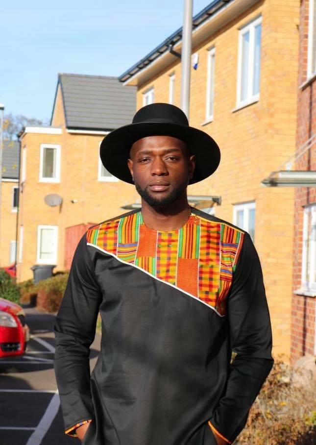 African Men polish cotton and kente shirt , African men , Traditional event