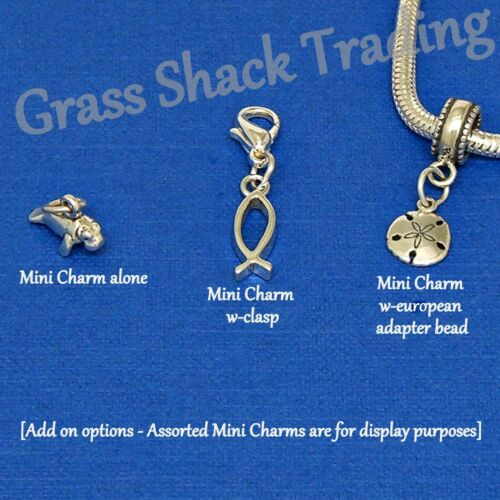 Baseball Softball Bat Glove Sterling Silver Charm w-Multiple Attachment Options
