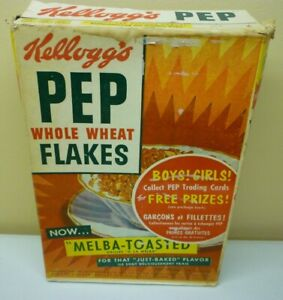 1947-Kellogg-039-s-Pep-Trading-Card-FC70-1st-Series-Empty-Box-With-Uncut-Panel-of-8