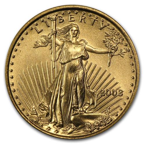 2003 1//10 oz Gold American Eagle BU SKU #4704